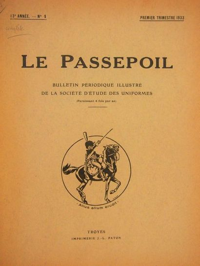 PASSEPOIL (LE) Bulletin de la Société d'étude...