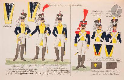SAUERWEID Camp de Dresde. 1812-1813. Paris,...