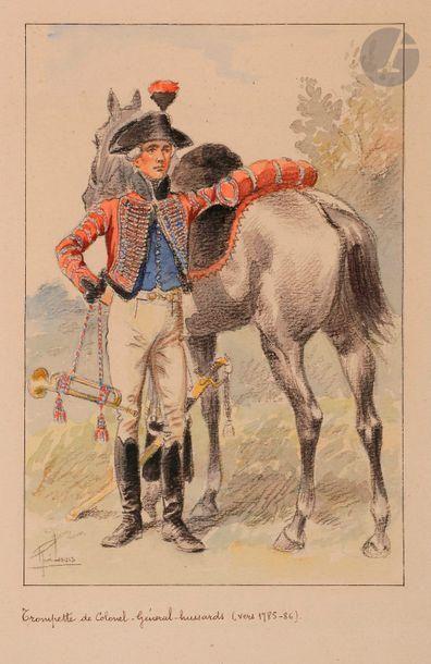 LOUIS (René) - Trompette de Hussards volontaires...
