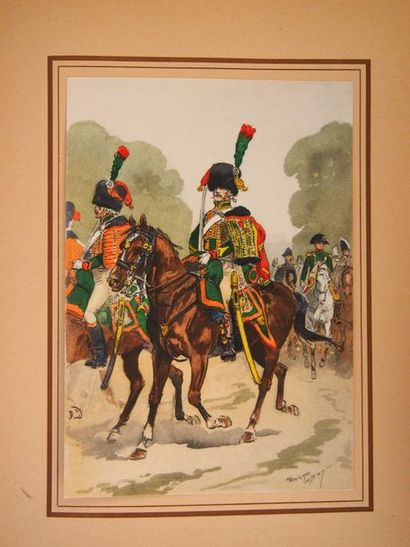 TOUSSAINT (Mauritius )Napoleon 1st and his Guard. Paris, Illustrated Military Editors,...