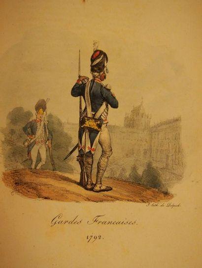 VERNET & LAMI Collection des uniformes des armées françaises de 1791 à 1814. Paris,...