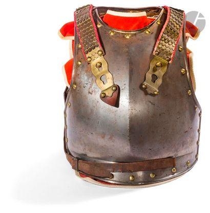 Cuirasse de cuirassier modèle 1812. En fer,...