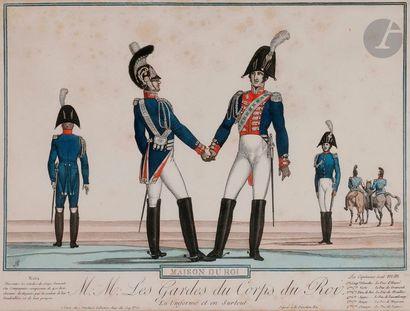 MARTINET (chez) MAISON DU ROI (1814) - Gendarmes du roi. Paris, Martinet. Planche...