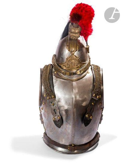 Ensemble casque et cuirasse de la garde impériale...