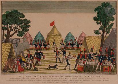 - MARTINET (chez) Troupes françaises. Paris, Martinet. Planche gravée et coloriée....