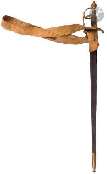 Forte épée de cavalerie type 1750. Fusée...