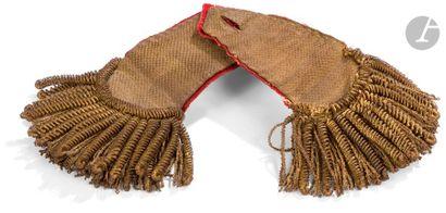 Paire d'épaulettes de colonel modèle 1786....