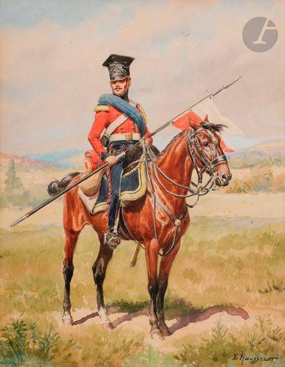 ROUSSELOT (Lucien) Chevau-Léger Lancier Garde...