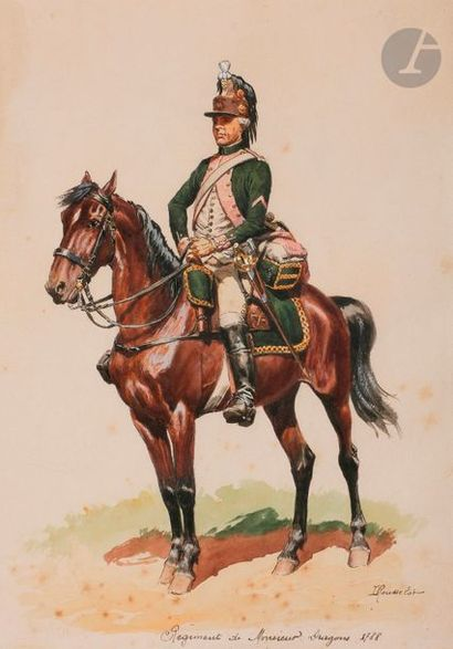 ROUSSELOT (Lucien) Dragons. 1788. Régiment...