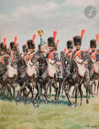 ROUSSELOT (Lucien) Premier régiment de Carabiniers, première période, porte-étendard...