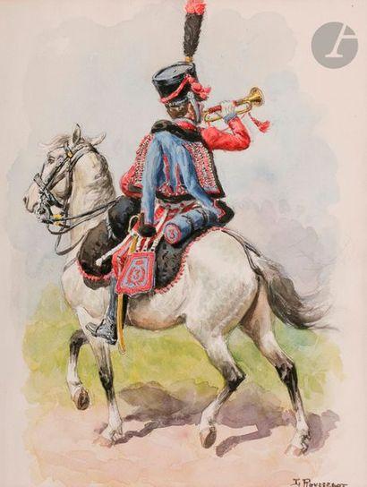 ROUSSELOT (Lucien) Trompette 3e Hussard à...