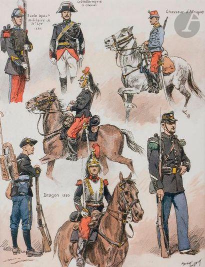 TOUSSAINT (Maurice) Uniformes des régiments...
