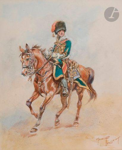 TOUSSAINT (Maurice) Officier du 7e Hussards...