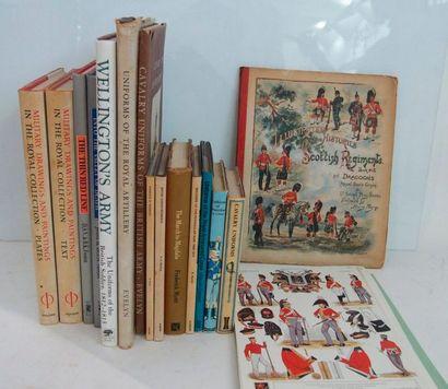 ARMÉE ANGLAISEEnsemble de livres dont les principaux sont : Fosten: The thin red...