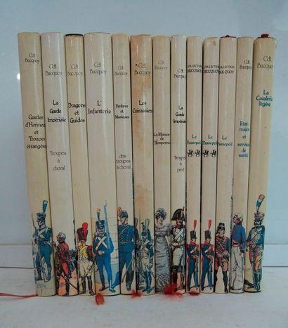 BUCQUOY (Cdt.) Les uniformes du Premier Empire. Paris, Grancher, 10 vol. in-4, cartonnage...