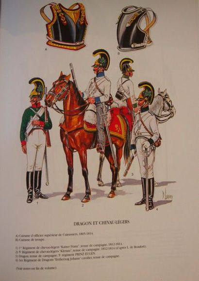COPPENS - COURCELLE - LODET - PETARD Uniformes des guerres napoléoniennes. Quatuor,...