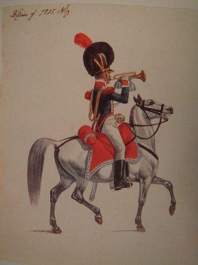 KLEIN Soldats bavarois, 1814-1818. Hambourg, Friese und Lacina, 1985, in-4, demi-reliure...