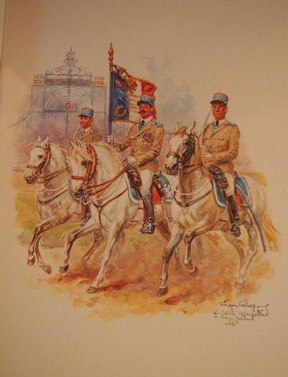 LELIEPVRE (E.) Cavaliers. Les gravures françaises. S.l., s.d., gd. in-4, demi-reliure...