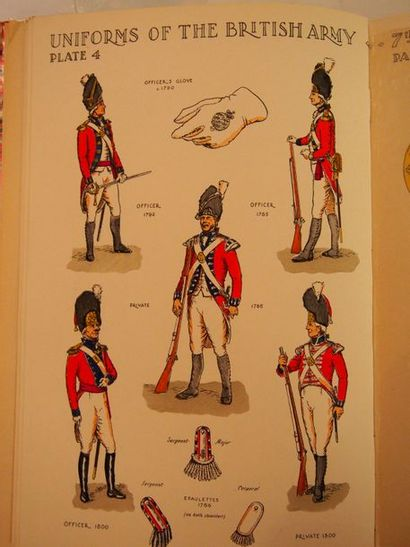 NEWTON (N.) Armée anglaise. London, s.d., in-4, demi-reliure chagrin rouge, dos...