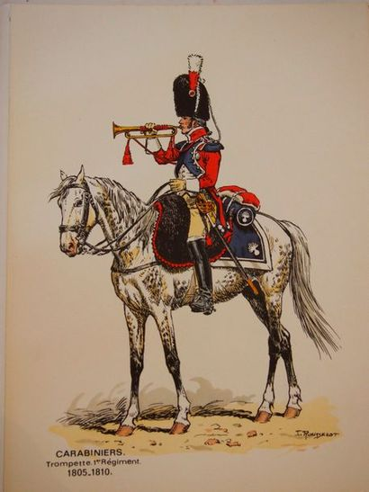 ROUSSELOT (Lucien ) Soldiers of the past. Carabinieri (Cavalry Grenadiers). 1805-1810....