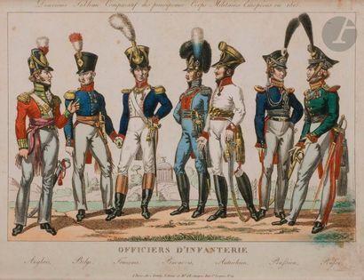 GENTY (chez) Tableaux comparatifs des principaux corps militaires européens en 1815....