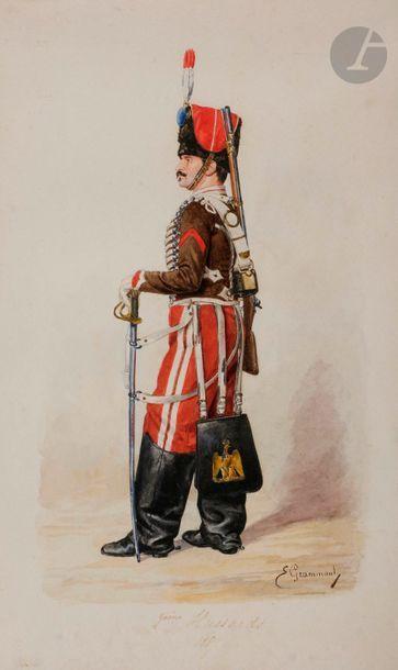 GRAMMONT (E.) Hussards du 2e régiment en...