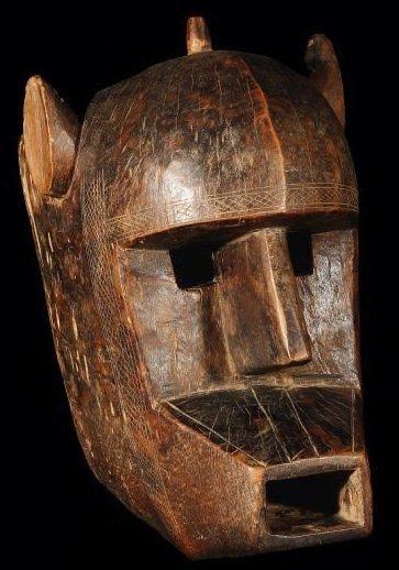 Masque BAMANA (Mali). Ancien masque zoomorphe...