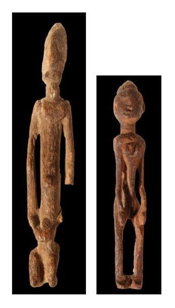 Lot de 2 statuettes DOGON (Mali). Statuettes...