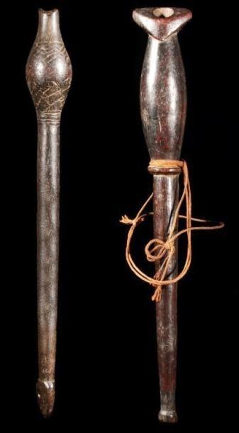 Lot de 2 flûtes MARKA DAFING (Burkina Faso)....