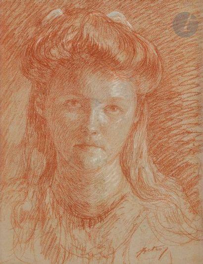 Léon DETROY (1859-1955) Portrait de jeune...
