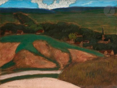 Francis JOURDAIN (1876-1958) Village, 1899...