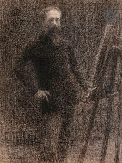 *Hippolyte PETITJEAN (1854-1929) Autoportrait...