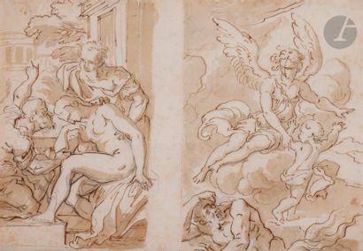 Cornelis SCHUT (1597-1655) Une feuille avec...