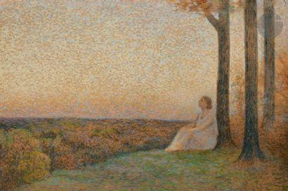 Alphonse OSBERT (1857-1939) Jeune femme au...