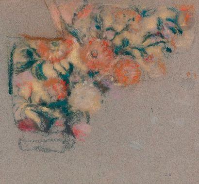 Édouard VUILLARD (1868-1940) Étude d'étoffe, vers 1927-28 Pastel sur papier bleu....