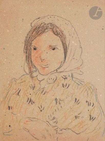 *Louis VALTAT (1869-1952) Jeune fille au...