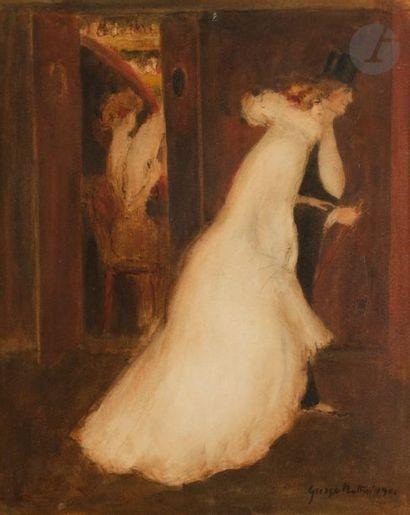 *George BOTTINI (1874-1907) Le Sortie de...