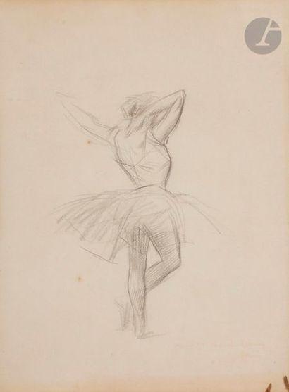 Jean-Louis FORAIN (1852-1931) Danseuse Fusain....