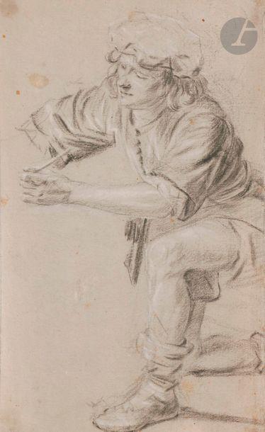 École du NORD du XVIIe siècle Artiste dessinant...