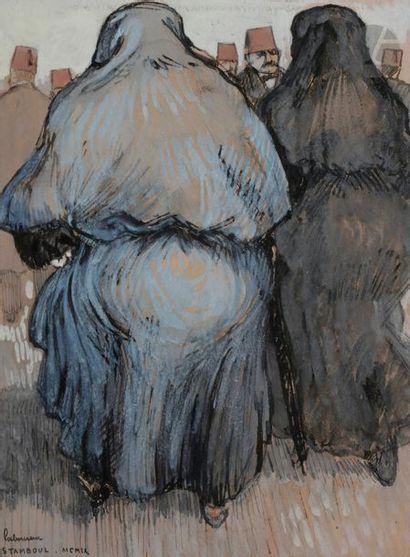 Jean-Émile LABOUREUR (1877-1943) Femmes d'Istanbul,...