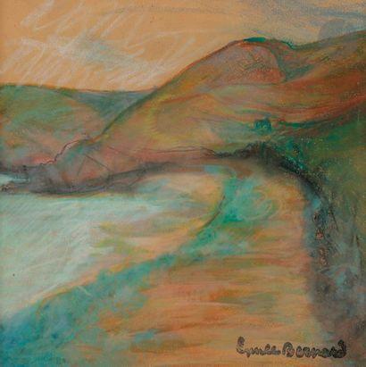EMILE BERNARD (1868-1941) BORD DE MER PASTEL....