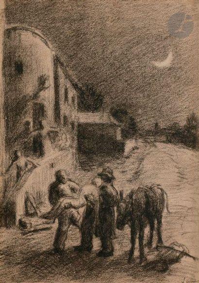 *Maximilien LUCE (1858-1941) Le Transport...