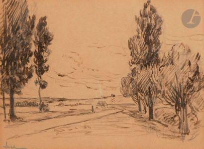 Maximilien LUCE (1858-1941) Paysage au chemin...