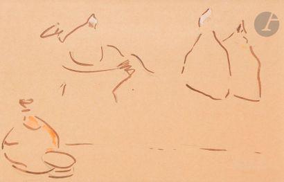 Albert MARQUET (1875-1947) Esquisse de femmes...