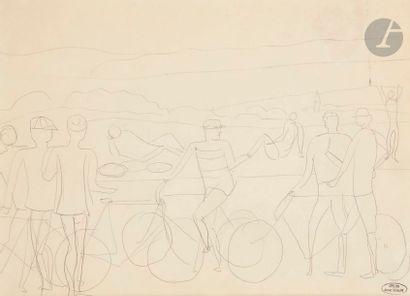 André DERAIN (1880-1954) Les Cyclistes Mine...