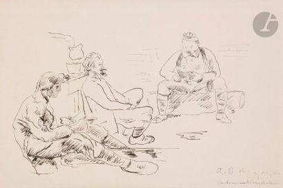 André DUNOYER DE SEGONZAC (1884-1974) Cantonnement...