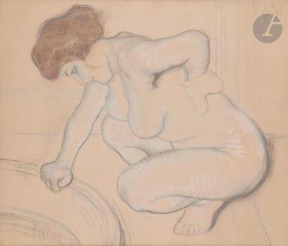 *Louis LEGRAND (1863-1951) Femme à sa toilette...
