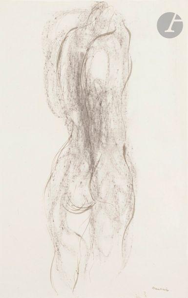 Jean FAUTRIER (1898-1964) Nu de dos les bras...