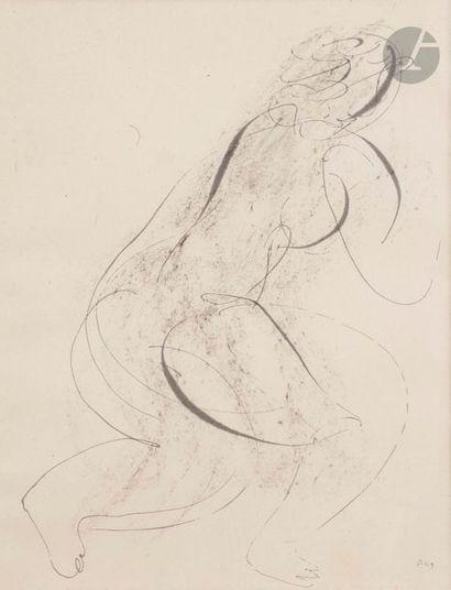 Jean FAUTRIER (1898-1964) Nu de dos, 1943...