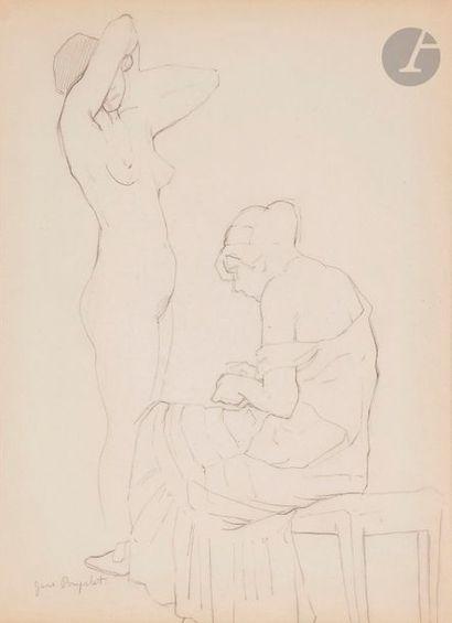 Jane POUPELET (1878-1932) Dans l'atelier...